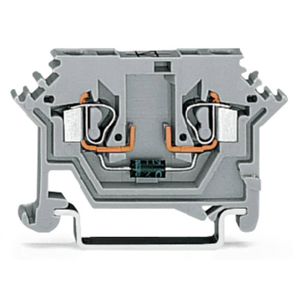 Diodeklemme 5 mm Trækfjeder Belægning: L Grå WAGO 280-613/281-410 100 stk