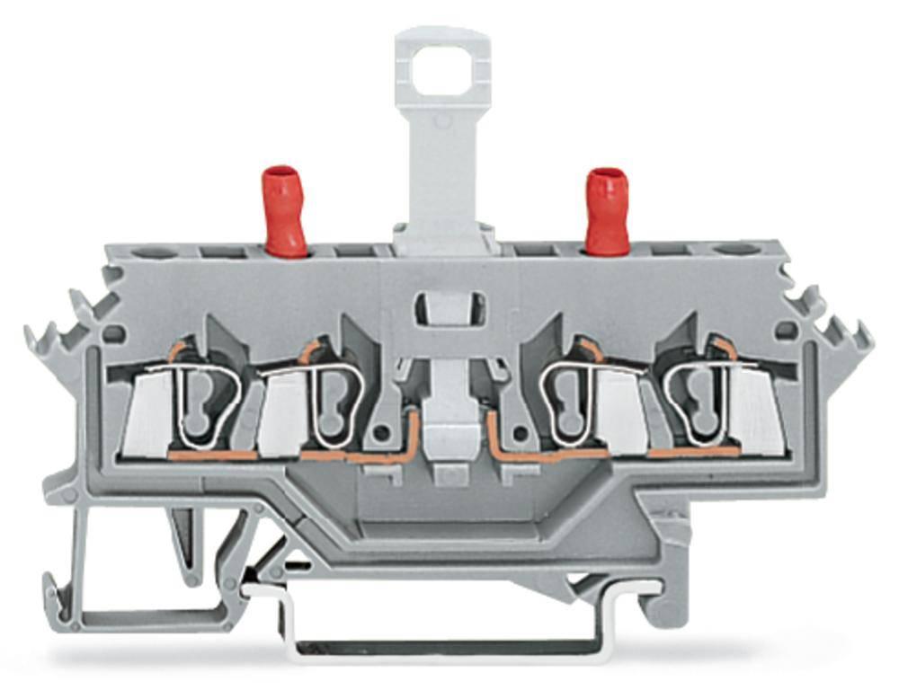 Skilleklemme 5 mm Trækfjeder Belægning: L Grå WAGO 280-627 50 stk