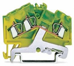 Jordklemme 5 mm Trækfjeder Belægning: Terre Grøn-gul WAGO 280-637 100 stk
