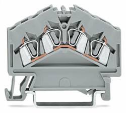 Gennemgangsklemme 5 mm Trækfjeder Belægning: L Grå WAGO 280-646 100 stk
