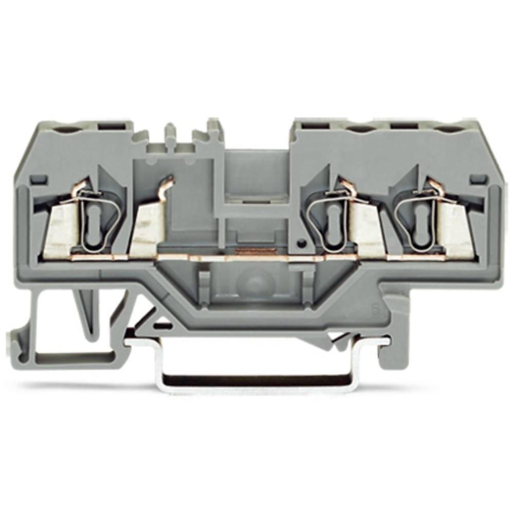 Gennemgangsklemme 5 mm Trækfjeder Belægning: L Grå WAGO 280-681 100 stk