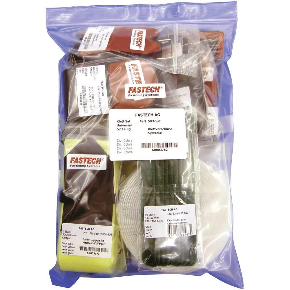 Univerzalni sprijemalni trakovi Fastech 583, 58-delni komplet v vrečki 583-Set-Bag