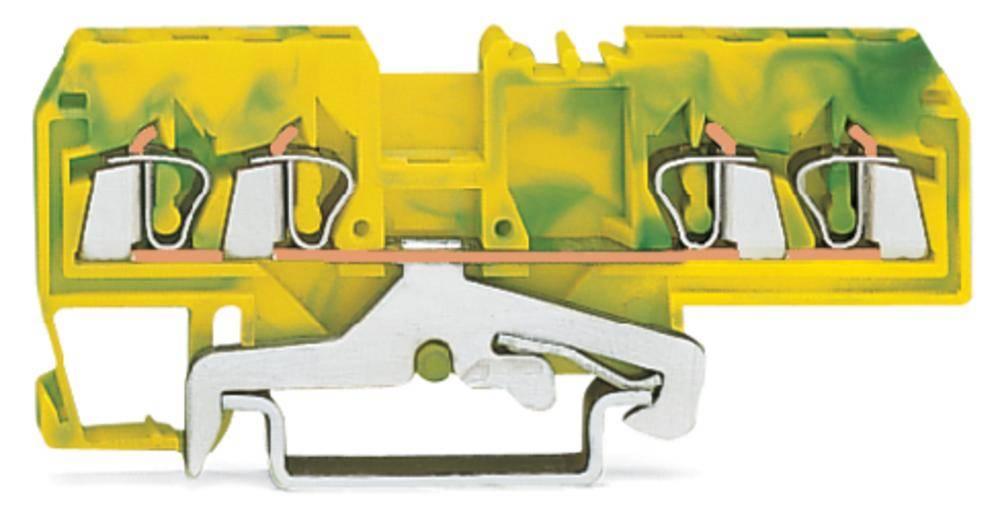 Jordklemme 5 mm Trækfjeder Belægning: Terre Grøn-gul WAGO 280-677/999-950 100 stk