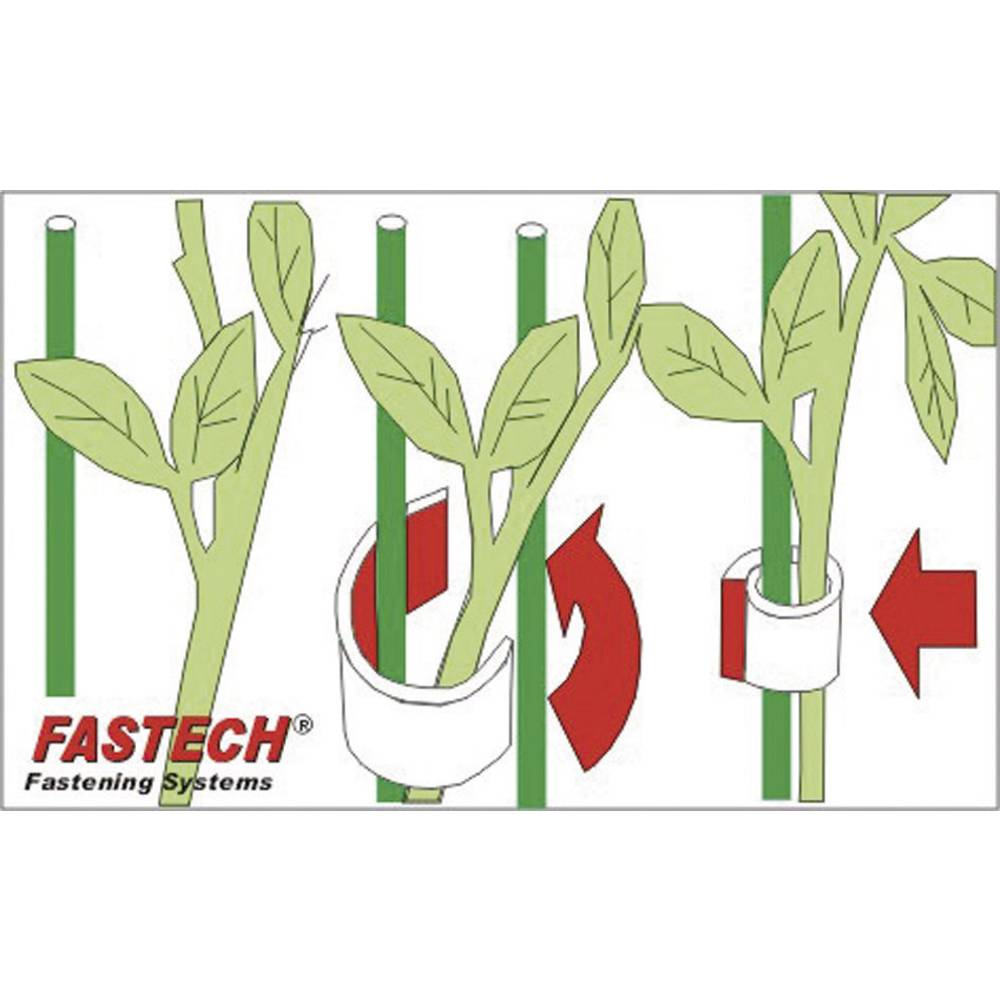 Traka s čičkom za biljke i vrt Fastech prianjajući i mekani dio (D x Š) 5 m x 10 mm zelena 701-322-Bag 1 kolut
