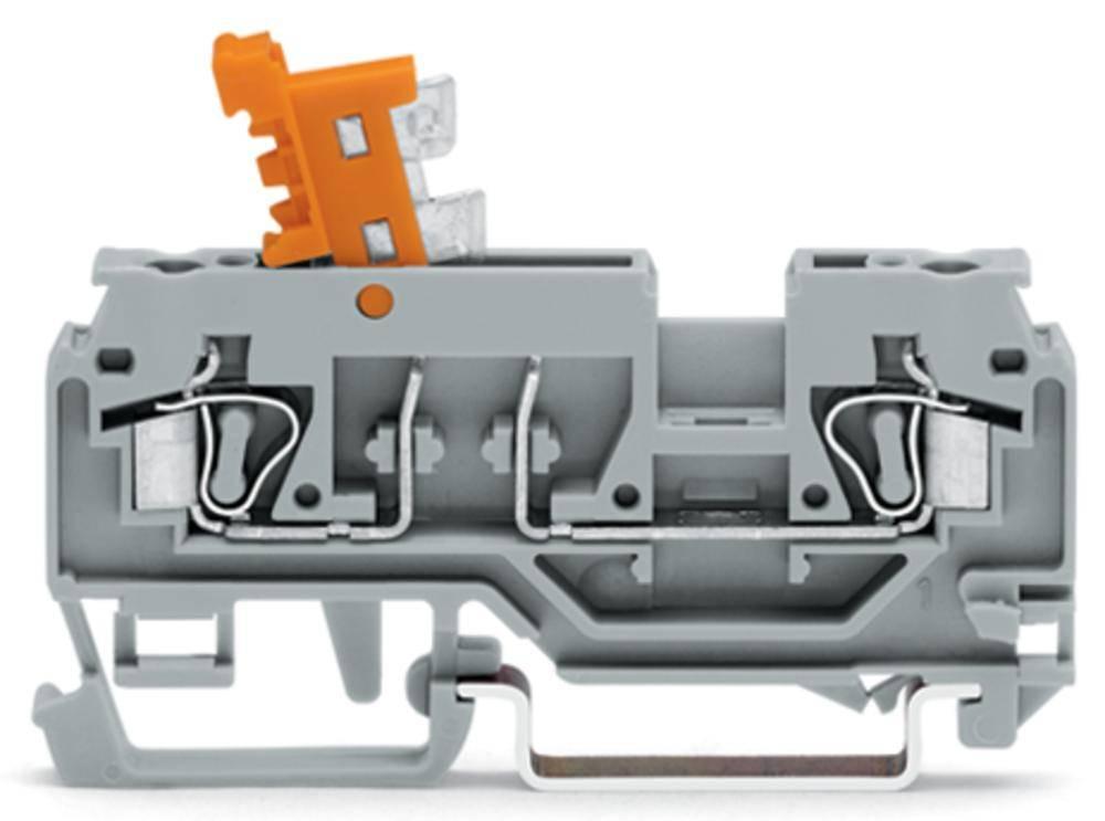 Skilleklemme 5 mm Trækfjeder Orange WAGO 280-879 100 stk