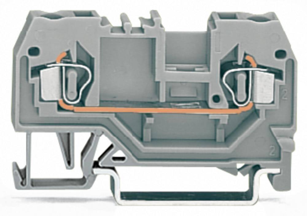 Gennemgangsklemme 5 mm Trækfjeder Belægning: L Grå WAGO 280-901 100 stk