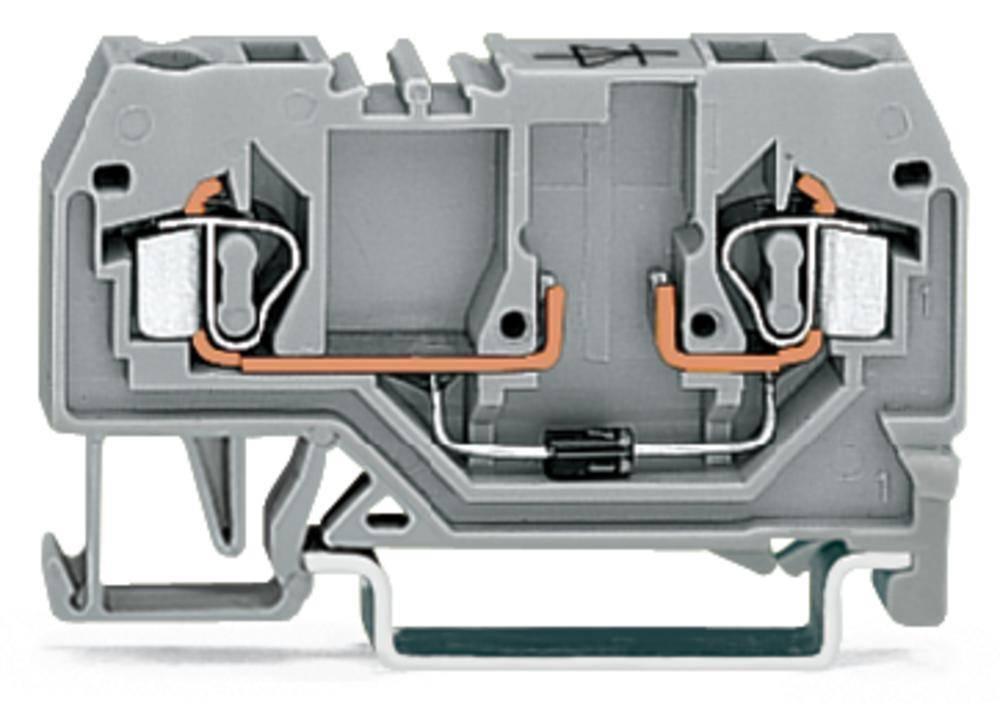 Diodeklemme 5 mm Trækfjeder Belægning: L Grå WAGO 280-915/281-410 100 stk