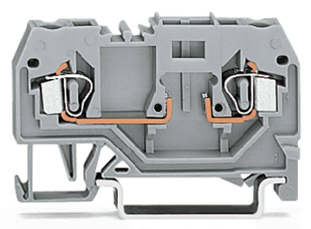 Basisklemme 5 mm Trækfjeder Belægning: L Grå WAGO 280-916 100 stk