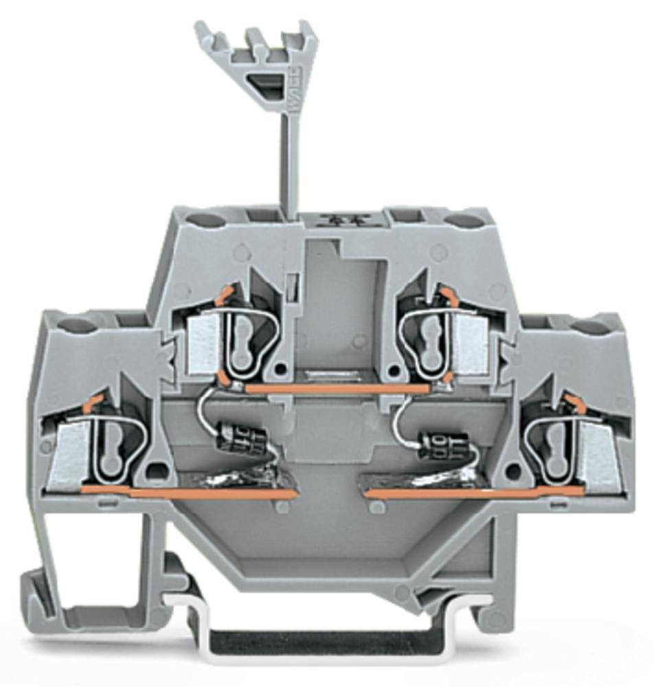 Dobbeltlags diodeklemme 5 mm Trækfjeder Belægning: L Grå WAGO 280-941/281-489 50 stk
