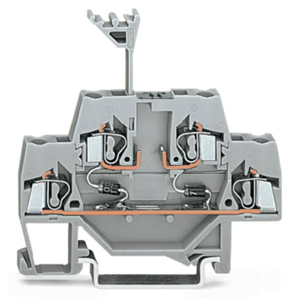 Dobbeltlags diodeklemme 5 mm Trækfjeder Belægning: L Grå WAGO 280-942/281-487 50 stk