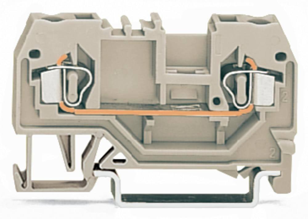 Gennemgangsklemme 5 mm Trækfjeder Belægning: L Grå WAGO 280-992 100 stk