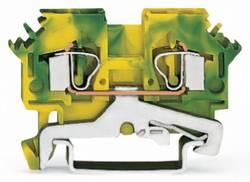 Jordklemme 6 mm Trækfjeder Belægning: Terre Grøn-gul WAGO 281-607/999-950 50 stk