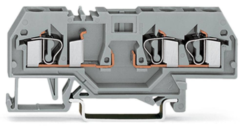 Basisklemme 6 mm Trækfjeder Belægning: L Grå WAGO 281-610 50 stk