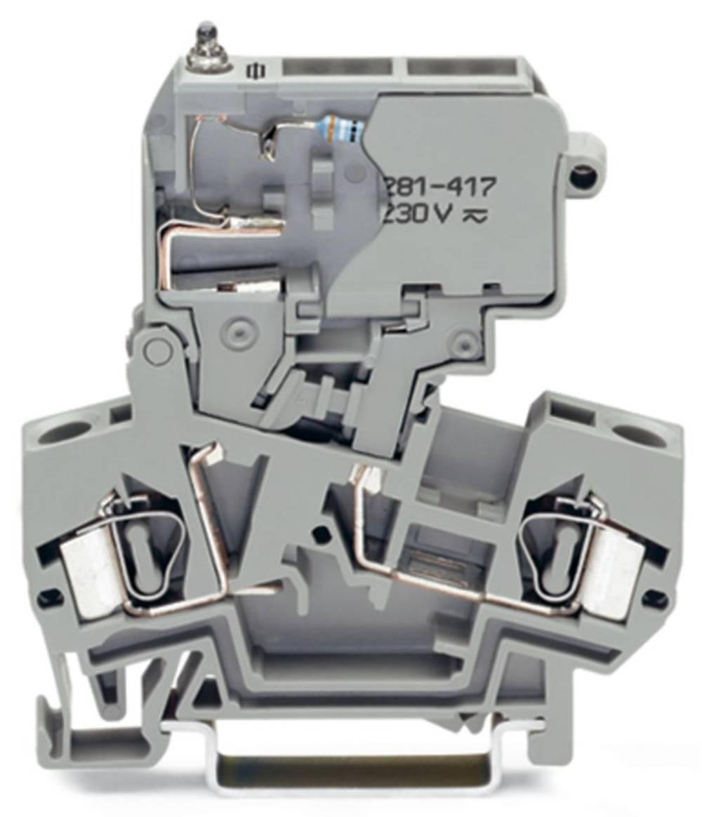 Sikringsklemme 8 mm Trækfjeder Belægning: L Grå WAGO 281-612/281-418 50 stk