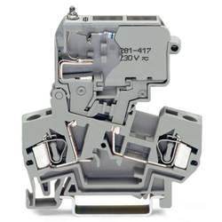 Sikringsklemme 8 mm Trækfjeder Belægning: L Grå WAGO 281-611/281-417 50 stk