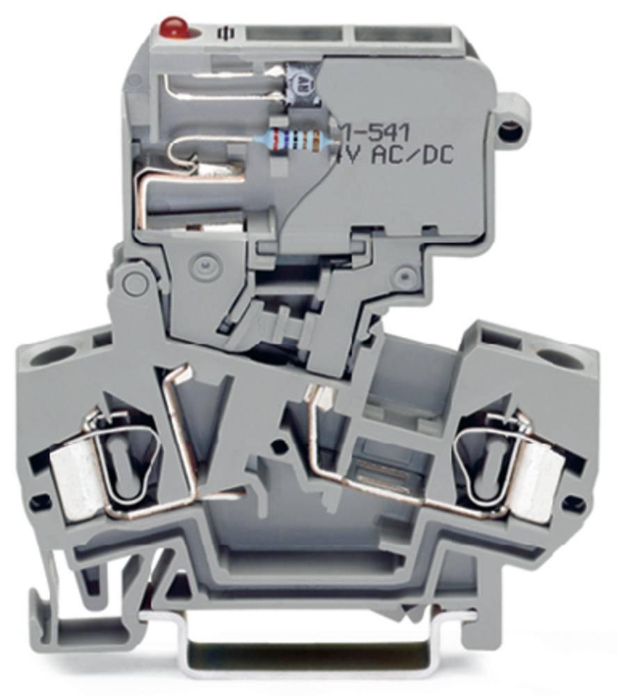 Sikringsklemme 8 mm Trækfjeder Belægning: L Grå WAGO 281-611/281-541 50 stk