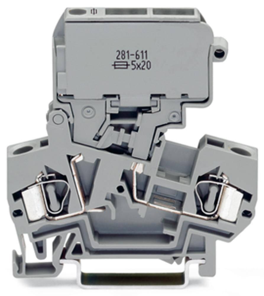 Sikringsklemme 8 mm Trækfjeder Belægning: L Grå WAGO 281-622 50 stk