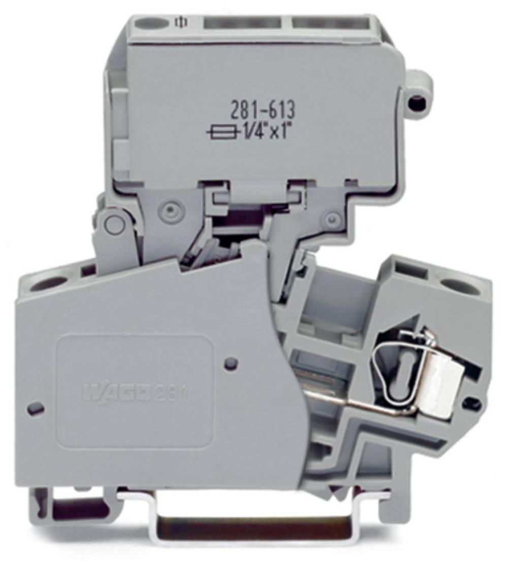 Sikringsklemme 10 mm Trækfjeder Belægning: L Grå WAGO 281-623 50 stk