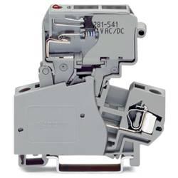 Sikringsklemme 10 mm Trækfjeder Belægning: L Grå WAGO 281-623/281-541 50 stk