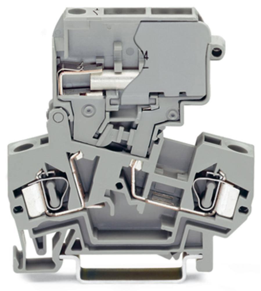 Skilleklemme 8 mm Trækfjeder Belægning: L Grå WAGO 281-624 50 stk