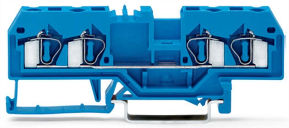 Gennemgangsklemme 6 mm Trækfjeder Belægning: N Blå WAGO 281-654 50 stk