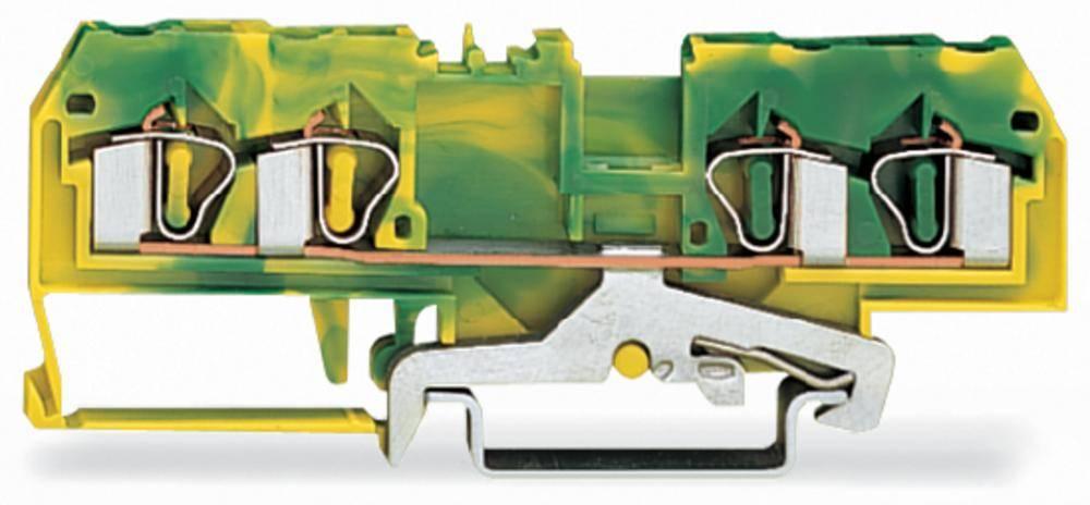 Jordklemme 6 mm Trækfjeder Belægning: Terre Grøn-gul WAGO 281-657 50 stk