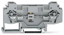 Skilleklemme 8 mm Trækfjeder Belægning: L Grå WAGO 282-135 25 stk