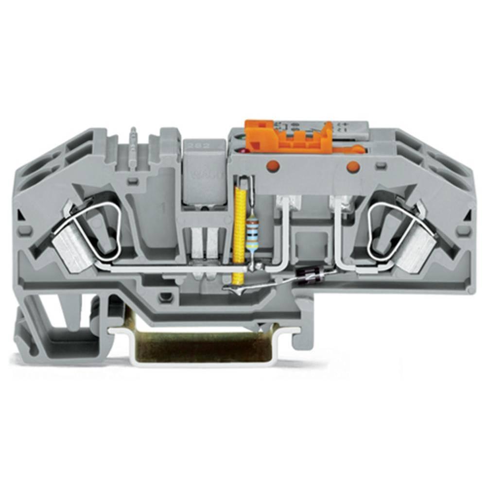 Skilleklemme 16 mm Trækfjeder Belægning: L Grå WAGO 282-639 12 stk