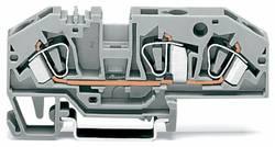 Gennemgangsklemme 8 mm Trækfjeder Belægning: L Grå WAGO 282-699 25 stk
