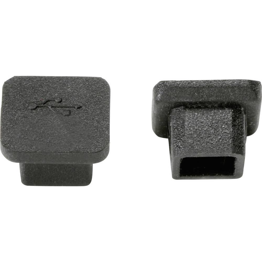 USB-Zaštitni poklopac, silicij crne boje PB Fastener CP-USB-B 1 kom