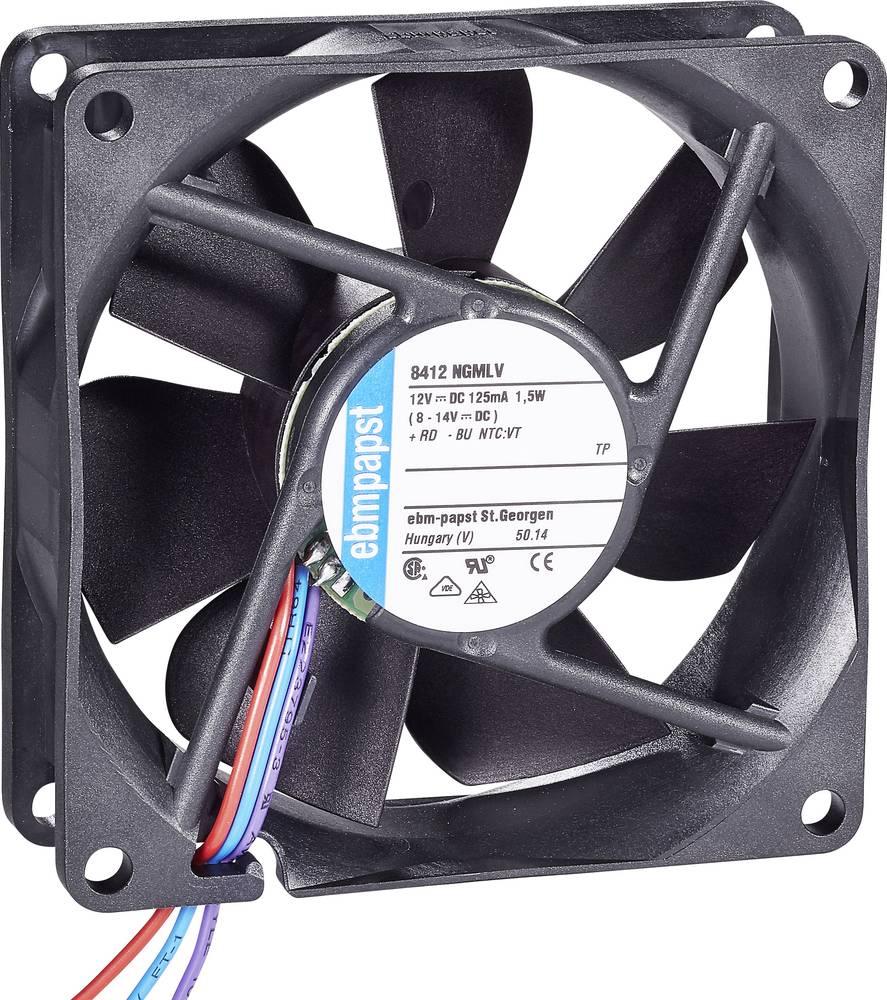 Aksialni ventilator 12 V/DC 45 m/h (D x Š x V) 80 x 80 x 25 mm EBM Papst 8412 NGMLV