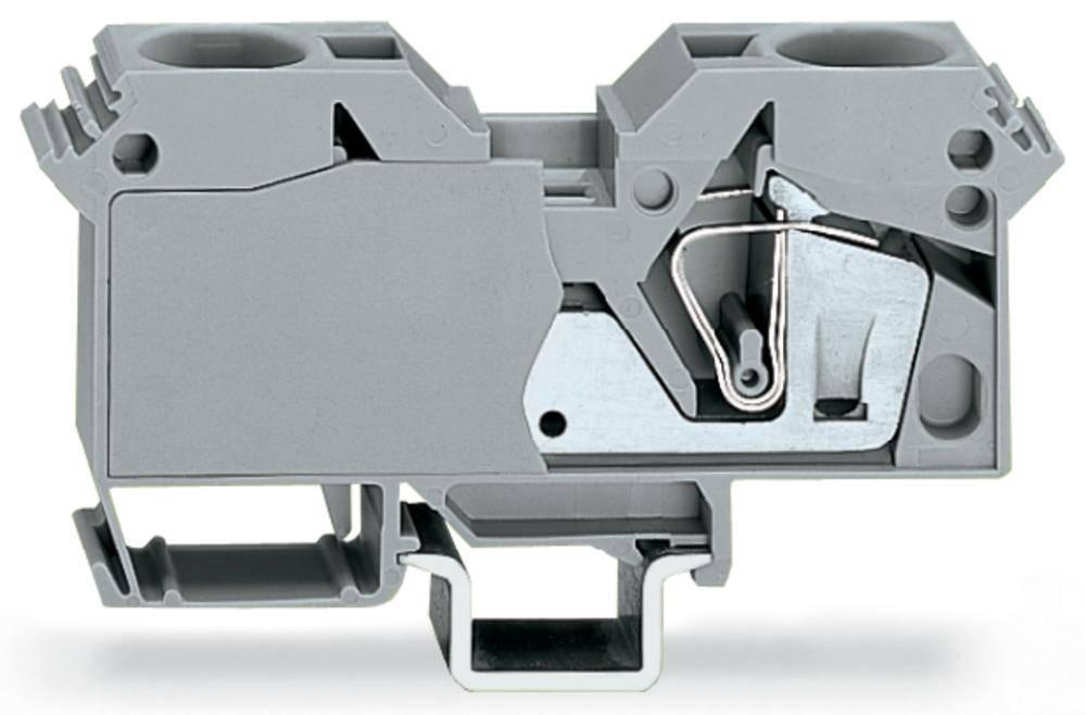 Gennemgangsklemme 16 mm Trækfjeder Belægning: L Grå WAGO 285-601 15 stk