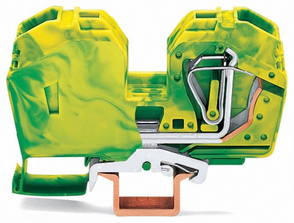 Jordklemme 16 mm Trækfjeder Belægning: Terre Grøn-gul WAGO 285-637 15 stk