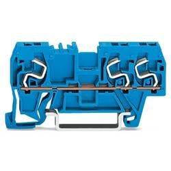 Gennemgangsklemme 5 mm Trækfjeder Belægning: N Blå WAGO 290-664 100 stk