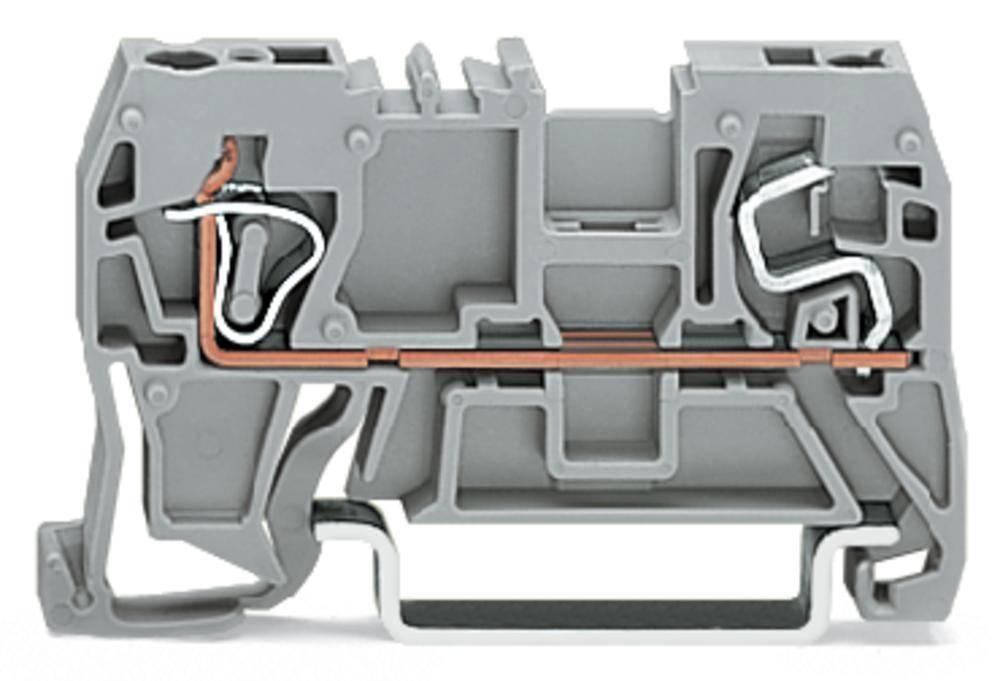 Gennemgangsklemme 5 mm Trækfjeder Belægning: L Grå WAGO 290-901 100 stk
