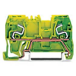 Jordklemme 5 mm Trækfjeder Belægning: Terre Grøn-gul WAGO 290-967 100 stk