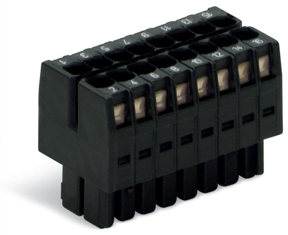 Tilslutningskabinet-kabel 713 Samlet antal poler 16 WAGO 713-1108/033-047 Rastermål: 3.50 mm 25 stk