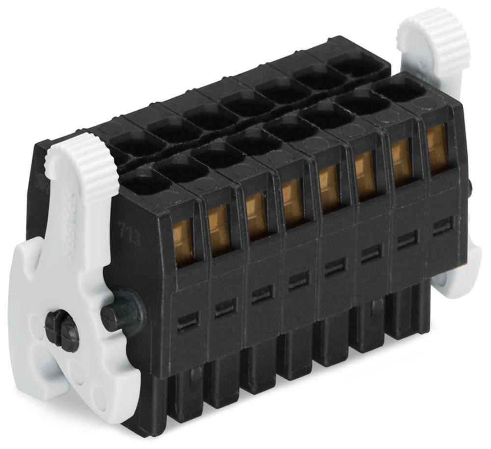 Tilslutningskabinet-kabel 713 Samlet antal poler 12 WAGO 713-1106/037-047 Rastermål: 3.50 mm 25 stk