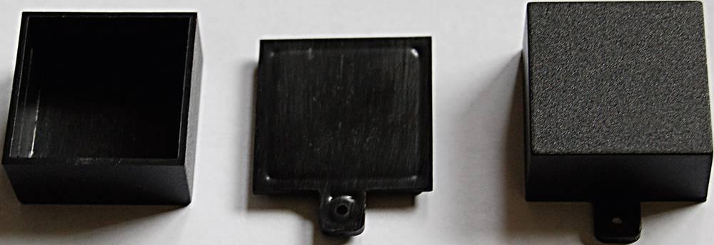WeroPlast 21008-Modularno kućište sa jezičcima, ABS, crno, 31x31x16mm