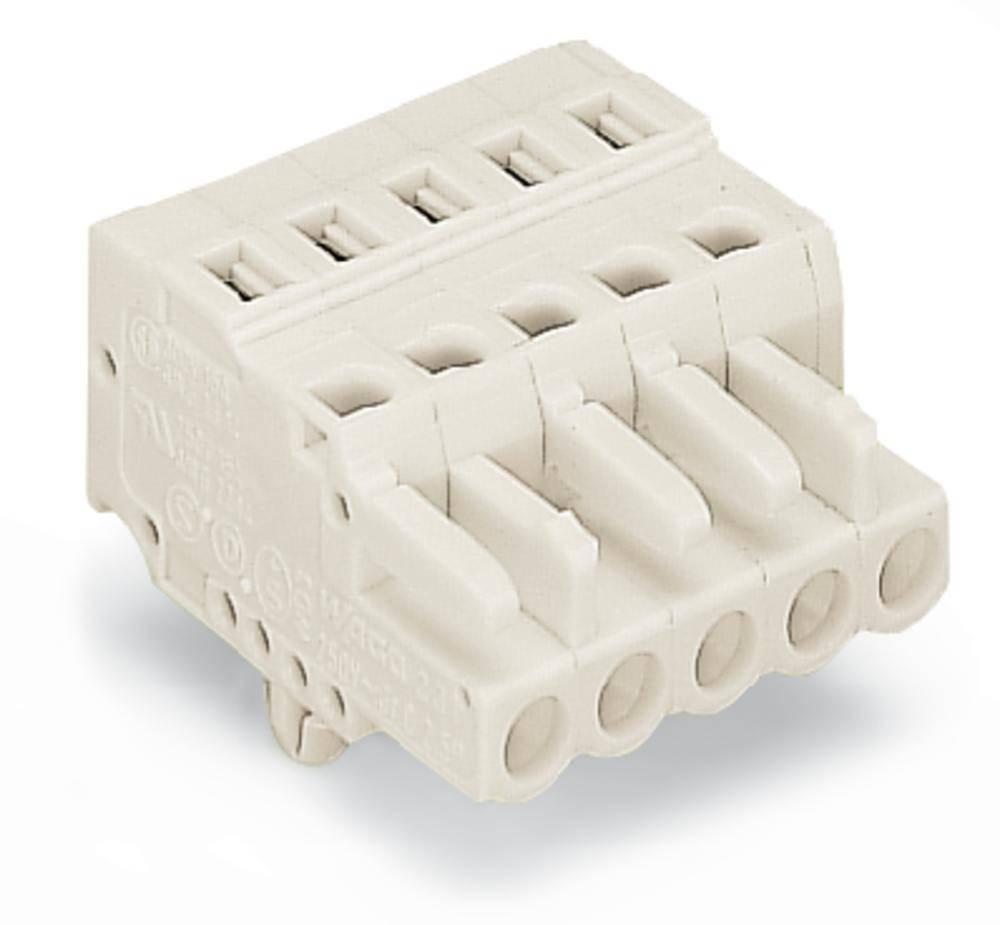 Tilslutningskabinet-kabel 721 Samlet antal poler 16 WAGO 721-116/008-037 Rastermål: 5 mm 10 stk