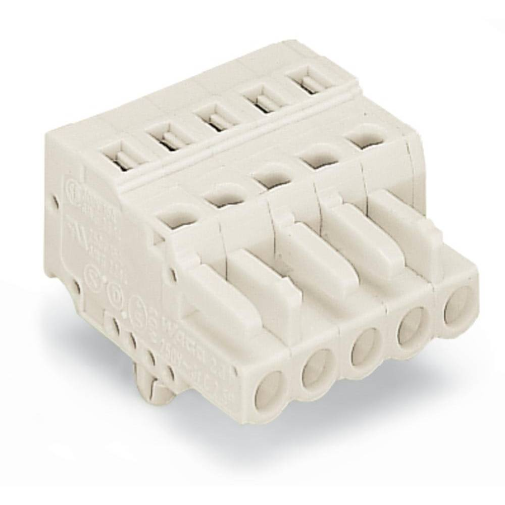 Tilslutningskabinet-kabel 721 Samlet antal poler 2 WAGO 721-102/008-000 Rastermål: 5 mm 100 stk