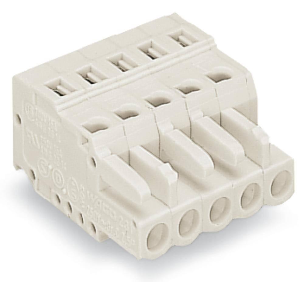 Tilslutningskabinet-kabel 721 Samlet antal poler 7 WAGO 721-107/026-037 Rastermål: 5 mm 50 stk