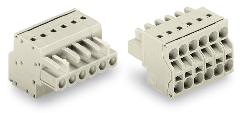 Tilslutningskabinet-kabel 721 Samlet antal poler 3 WAGO 721-2103/026-000 Rastermål: 5 mm 100 stk