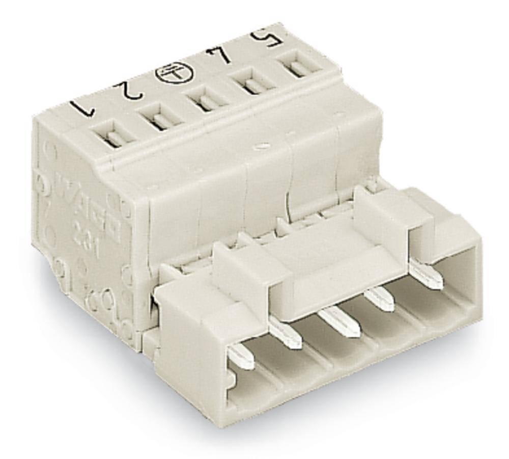 Pinski konektor (standarden) WAGO 721-612/000-033, mere: 5 mm 25 kosov