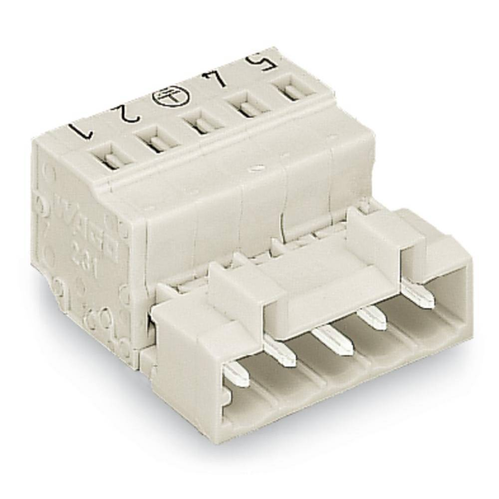 Pinski konektor (standarden) WAGO 721-616/000-042, mere: 5 mm 25 kosov