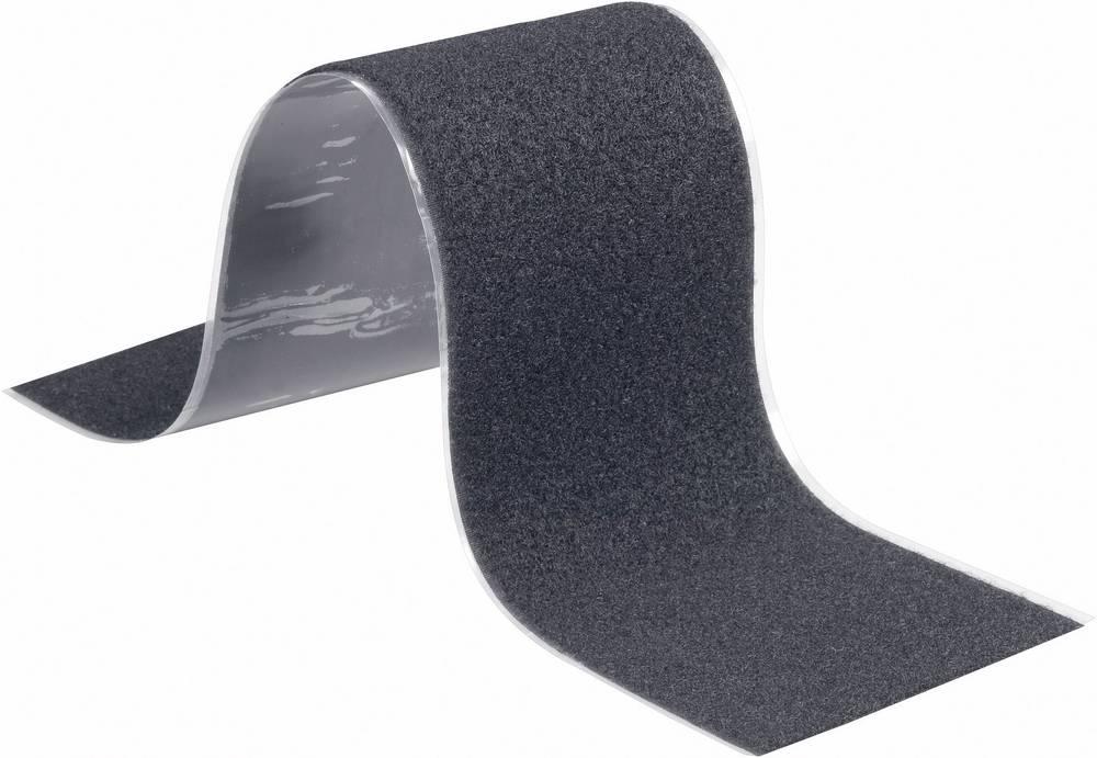 Samoljepljiva traka s čičkom Fastech mekani dio (D x Š) 50 cm x 10 cm crna T02-107-500 1 komad