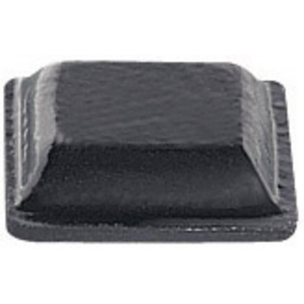 PB Fastener Self fødder (B x H) 10.2 mm x 2.5 mm PU Sort Indhold 11 stk