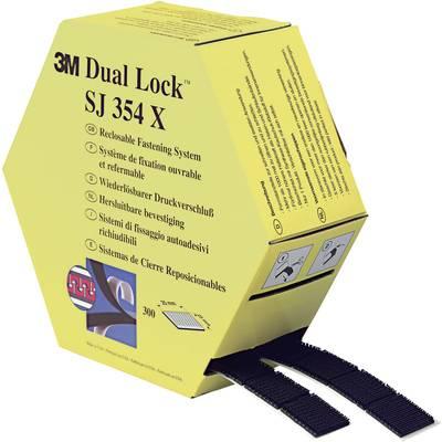 Hook-and-loop tape stick-on Mushroom hooks (L x W) 7500 mm x 25 mm Black 3M SJ354X Dual Lock 1 pair
