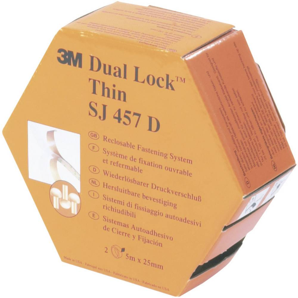 Samoljepljiva traka s čičkom s gljivastim glavicama Dual Lock™ (D x Š) 5 m x 25 mm prozirna 3M SJ 457D 1 komad