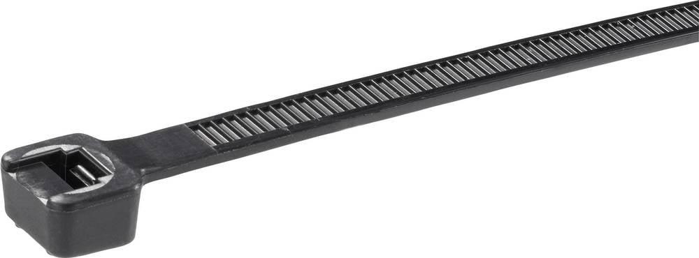 Vezice za kabele 627 mm crne boje UV-stabilno, otporno na vremenske uvjete Panduit PLT7LH-C0 100 kom
